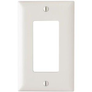 1-Gang White Single Midsize Wall Plate