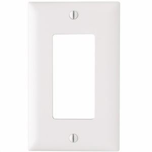 Legrand Trademaster 1-Gang Decorator Rocker Wall Plate (White) (10 Pack)