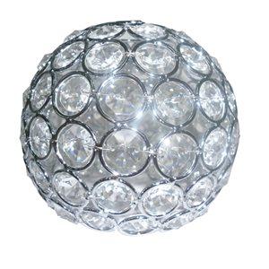 Style Selections Ladura 4.75-in Crystal Vanity Light Shade