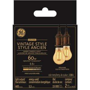 GE 60W LED A15 VIN AMB DIM (2-Pack)