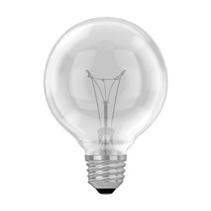 GE 40-Watt Medium Base G25 Incandescent Light Bulb (3-Pack)