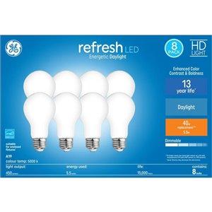GE 6-Watt A19 Daylight LED Light Bulb (8-Pack)