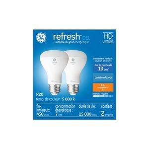 GE 7W LED R20 DAYLIGHT (2-Pack)