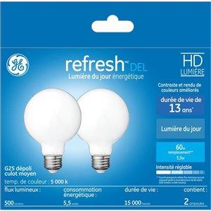 GE 60W LED G25 HD RFR W DIM (2-Pack)