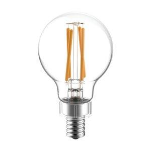 GE 60W LED G16.5C RVL CL DIM (2-Pack)