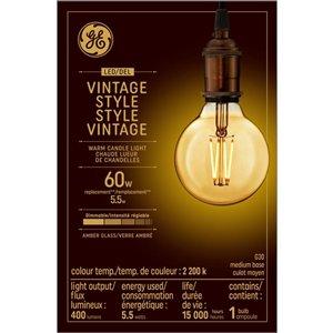 GE 60W LED G30 VIN AMB DIM