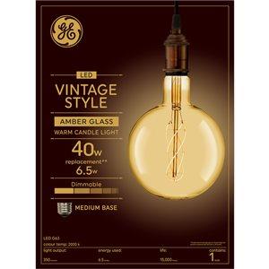 GE 6W LED G63 CSPI VIN AMBER