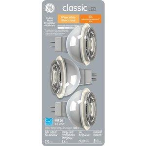 GE 7W LED MR16 SOFT WHITE (3-Pack)