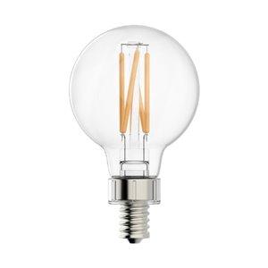 GE 40W LED G16.5C CL DIM 15KH (2-Pack)