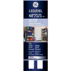 GE 15W LED 4FT T8 4000K (4-Pack)