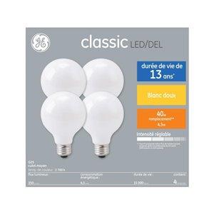 GE 40W LED G25 FR DIM 7.5KH (4-Pack)