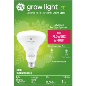GE LED 9W R30 Horticulture Red Reproductive (1-Pack)