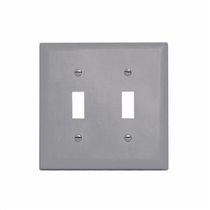 Legrand 2-Gang Gray Standard Toggle Nylon Wall Plate