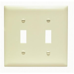 Legrand Trademaster 2-Gang Toggle Wall Plate (Ivory)