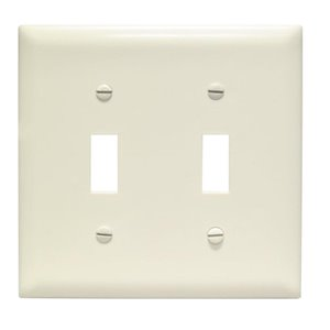 Legrand Trademaster 2-Gang Toggle Wall Plate (Light Almond)