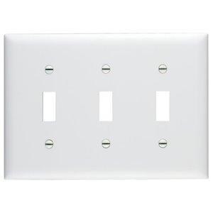 Pass & Seymour/Legrand Trademaster 3-Gang Toggle Wall Plate (White)