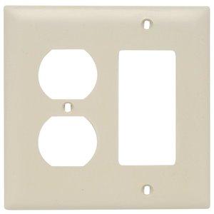 Legrand Trademaster 2-Gang Duplex/Decorator Combination Wall Plate (Ivory)
