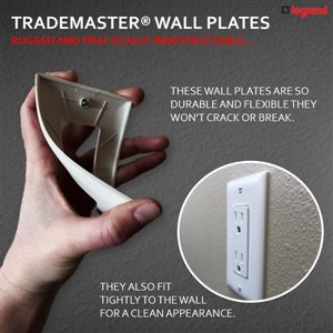 Pass & Seymour/Legrand Trademaster 2-Gang Toggle Wall Plate (White)
