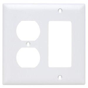 Legrand Trademaster 2-Gang Duplex/Decorator Combination Wall Plate (White)