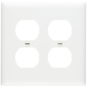 Legrand Trademaster 2-Gang Duplex Receptacle Wall Plate (White)