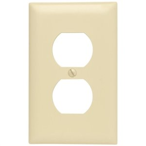 1-Gang Ivory Single Midsize Wall Plate