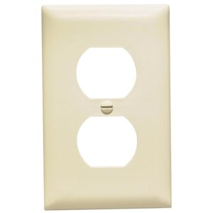 1-Gang Light Almond Single Midsize Wall Plate