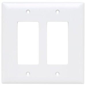 Legrand Trademaster 2-Gang Jumbo Decorator Rocker Wall Plate (White)