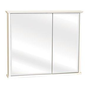 "Zenith 30"" White Crown Pediment Bi-View Medicine Cabinet"