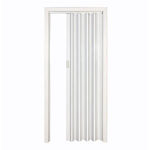Spectrum 24-in to 36-in x 80-in Encore White Solid Core Folding Closet Door