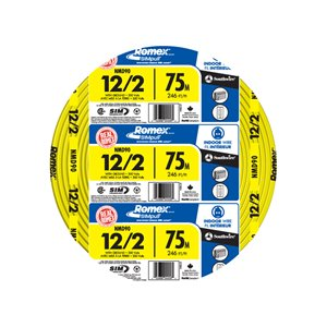 Southwire 75M 12-2 Indoor Non-Metallic Wire (By-the-Roll)