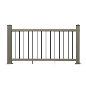 Leadvision 42-in x 72-in Brown Deck Railing