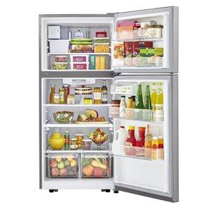 LG 20.2-cu ft Top-Freezer Refrigerator (Stainless Steel) ENERGY STAR