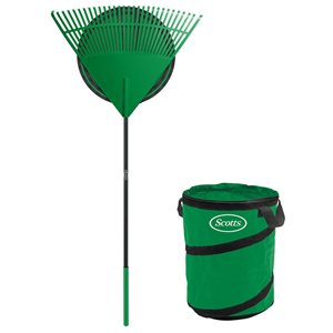 Scotts 30-in Poly Rake with Colla-PSIble Garden Bag