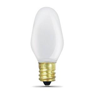 Feit Electric 7 Watt C7 White Incandescent 4 Pack