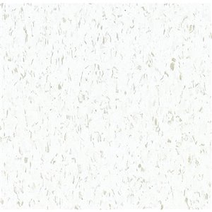 Armstrong Flooring Imperial Texture 1-Piece 12-in x 12-in Cool White Glue (Adhesive) Speckle Commercial Vct Tile