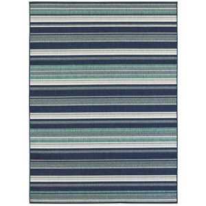 8-ft x 10-ft Blue Syden Woven Outdoor Area Rug