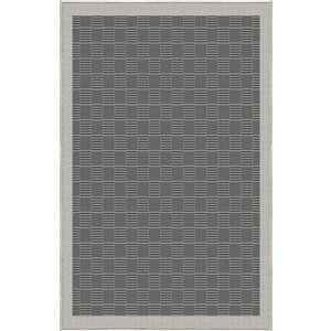 6-ft x 8-ft Grey Parquet Woven Outdoor Area Rug
