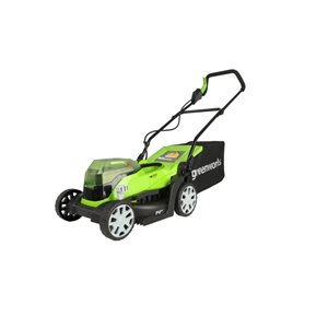 Greenworks 14-in 24V 2-in-1 Cordless Electric Lawn Mower