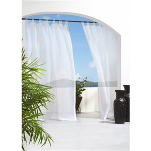 Outdoor Decor 84-in White Outdoor Sheer Single Curtain Panel