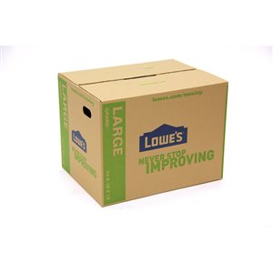 Lowe's Large Cardboard Moving Box