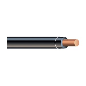 Southwire 14 AWG Solid Black Copper THHN Wire (By-the-Metre)