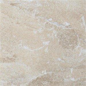 StonePeak Ceramics Inc. 12-in x 12-in Precious Stone Tuscan Blend Glazed Porcelain Floor Tile