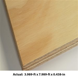 15/32-in x 4-ft x 8-ft Pine Sanded Plywood Panel