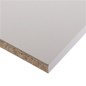 3/4-in x 16-in x 48-in White Premium Melamine Shelf Panel