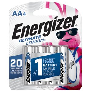 Energizer AA Lithium Battery (4-Pack)