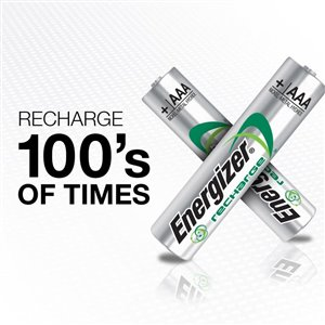 Energizer AAA Rechargeable Rechargeable Battery (4-Pack)