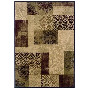 allen + roth Harrisburg Cream Rectangular Transitional Area Rug