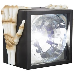 LightShow Halloween Battery Operated Lightshow Projection-W/O Sound-Strobe Matte Black 5.5-in Box (White)