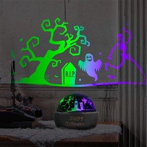Gemmy Halloween Tabletop Shadow Light-Graveyard Scene (Color Changing-OPlG)