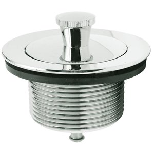 Chrome Roller Ball Stop Tub Drain Assembly